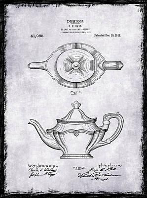 Tea Pot Patent 1911 Art Print by Mark Rogan