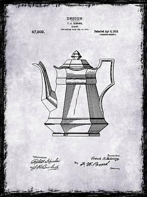 Grinders Photograph - Tea Pot Patent 1915 by Mark Rogan