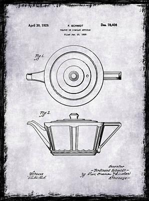Coffee Grinder Photograph - Tea Pot Patent 1929 by Mark Rogan