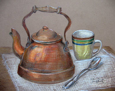 Tea Pot Art Print by Patricia Januszkiewicz