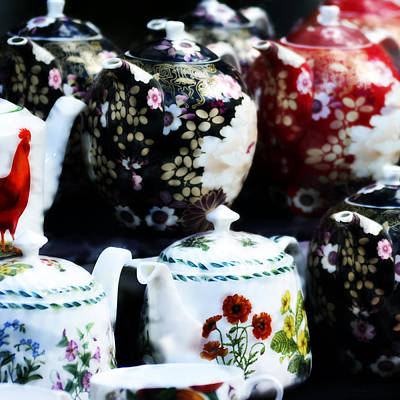 Teapot Mixed Media - Tea Pots On Table by Tommytechno Sweden
