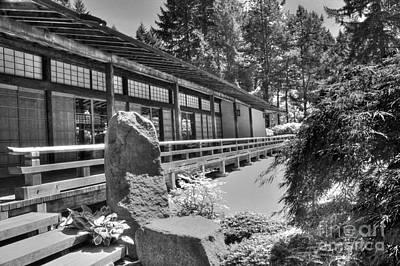 Tea Room At The Japanese Garden Print by David Bearden