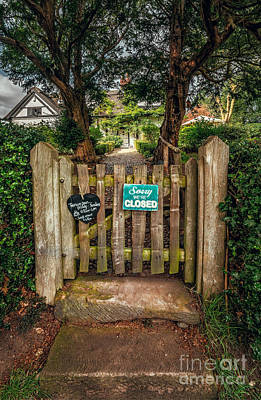 Tea Rooms Photograph - Tea Room Gate by Adrian Evans