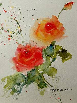 Painting - Tea Roses by Sandra Strohschein