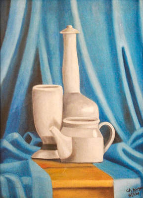 Snack Time Painting - Tea Set by Durga C