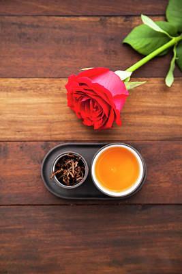 Photograph - Tea Set With Tea by Flavia Morlachetti