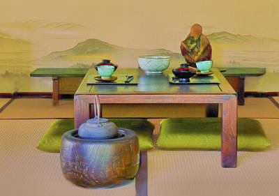 Tea Setting Art Print by Joseph Hollingsworth