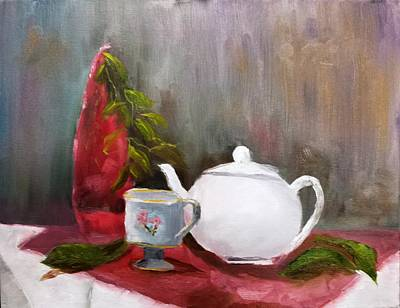 Painting - Tea Time - Still Life by Larry Hamilton