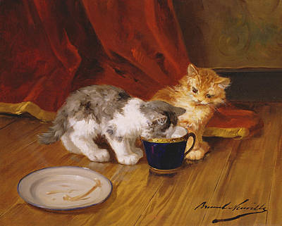 Tea Time Art Print by Alphonse Marie de Neuville