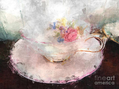 Mixed Media - Tea Time by Claire Bull