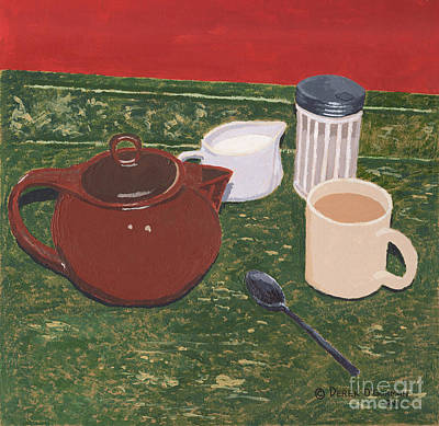 Painting - Tea Time by Derek O'Gorman