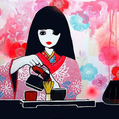 Tea Time Art Print by Erica Falke