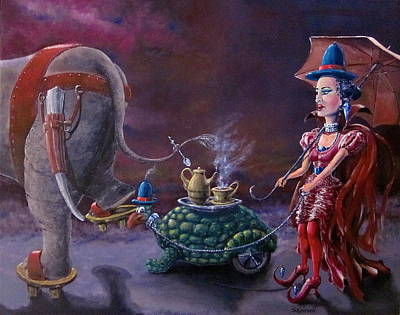 Painting - Tea Time by Geni Gorani