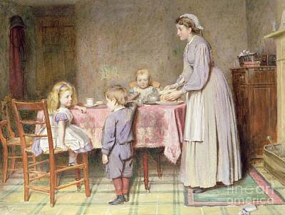 Cloth Painting - Tea Time by George Goodwin Kilburne