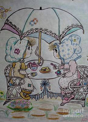 Tea Time Art Print by Lori  Lovetere