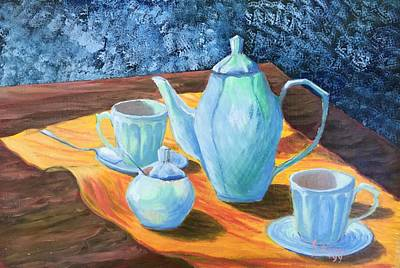 Sergio Ramos Wall Art - Painting - Tea Time by Sergio A Ramos