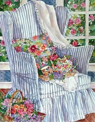 Teapot Painting - Tea Time by Sherri Crabtree