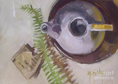 Teapot Painting - Tea Time Teapot For Afternoon Tea Parties by Mary Hubley