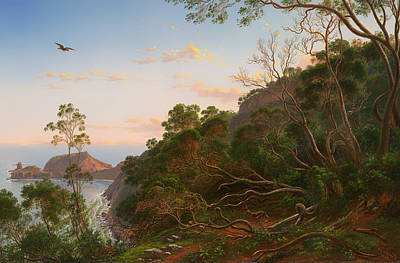 Victoria Painting - Tea Trees Near Cape Schank Victoria by Mountain Dreams