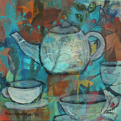 Tea Party Painting - Tea With Friends by Robin Maria Pedrero