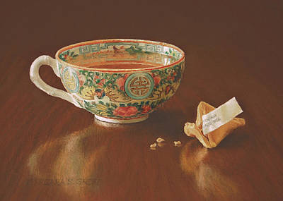 Tea With Good Fortune Original by Barbara Groff