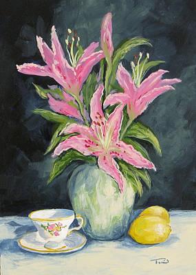 Tea With Lilies Original