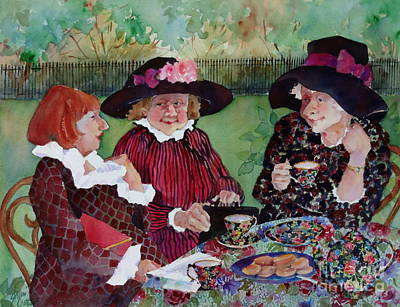 Teapot Painting - Tea With The Girls by Sherri Crabtree