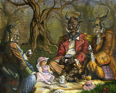 Painting - Tea With The Ogres by Jeff Brimley
