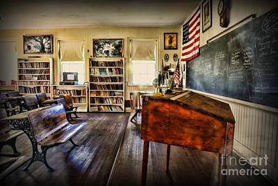 One Room School Houses Photograph - Teacher - One Room School by Paul Ward
