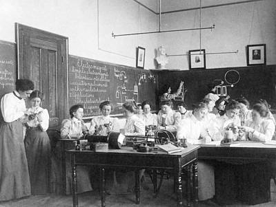 Teaching Electromagnetism, Circa 1899 Art Print by Science Photo Library