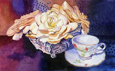 Teacup And Gardenias Original
