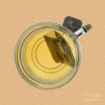 Photograph - Teacup And Steeping Tea Bag by Phil Cardamone