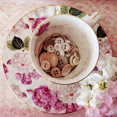 Photograph - Teacup Buttons by Cathie Richardson