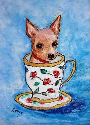 Teacup Chihuahua Painting - Teacup Chihuahua by Robin Monroe