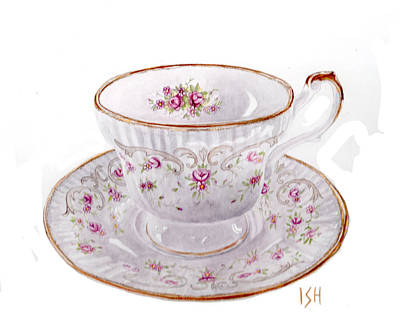 Painting - Teacup by Inger Hutton