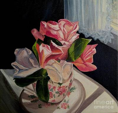 Painting - Teacup Roses by Julie Brugh Riffey