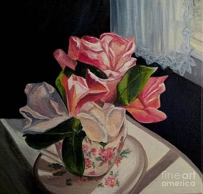 Teacup Roses Art Print