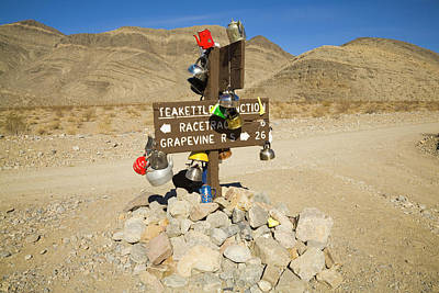 Photograph - Teakettle Junction In Death Valley  by Yva Momatiuk and John Eastcott