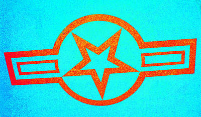 Photograph - Teal And Rust Fighter Star by Holly Blunkall
