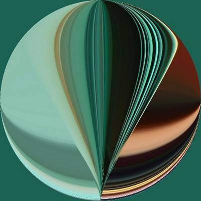 Digital Art - Teal Aqua Seven Duvet Size by Kathy K McClellan