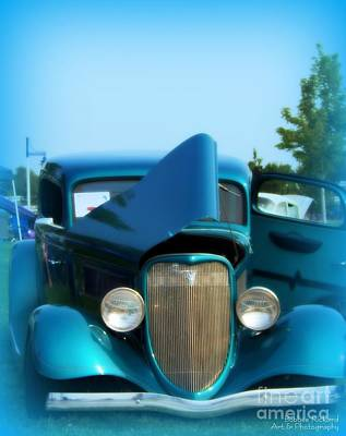 Photograph - Teal Blue 34 Ford Coupe by Bobbee Rickard
