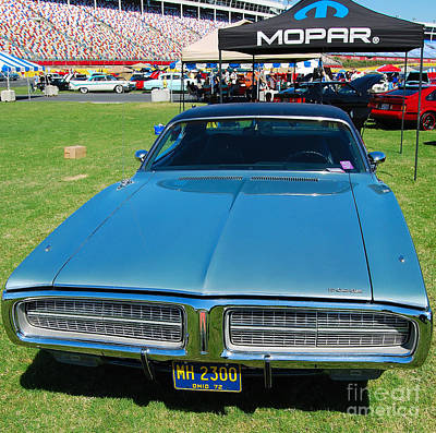 Photograph - Teal Dodge Charger by Mark Spearman