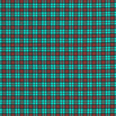 Teal Red And Black Plaid Fabric Background Art Print by Keith Webber Jr
