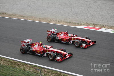 Photograph - Team Ferrari by David Grant