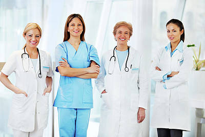 General Photograph - Team Of Female Doctors by Skynesher