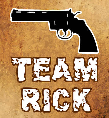 Team Rick Art Print by Jera Sky