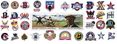 Teams Of The Negro Leagues Art Print by Mike Baltzgar
