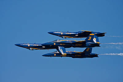 Blue Angels Photograph - Teamwork by Adam Romanowicz