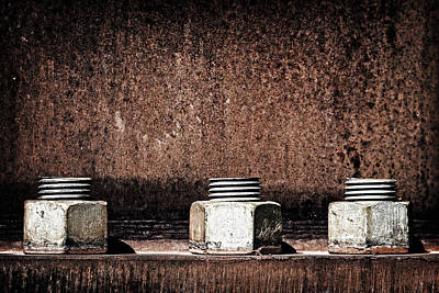 Photograph - Teamwork - Industrial Bolts 3 by Lincoln Rogers