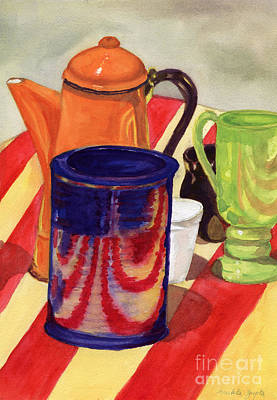 Teapot Painting - Teapot And Cup Still Life by Mukta Gupta